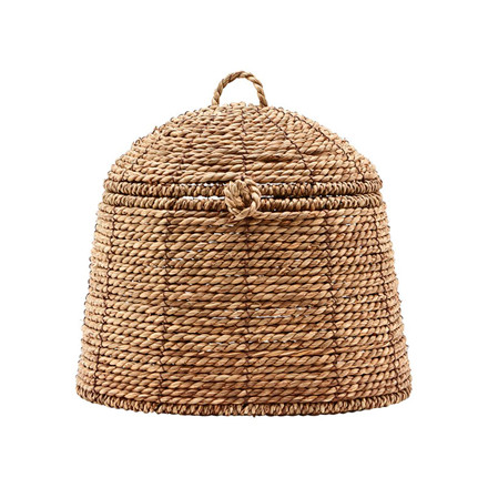 House Doctor Rama Basket With Lid Natural Small