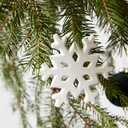 House Doctor Snowflake Ornament Hvid