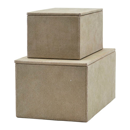 House Doctor Suede Storage Grey