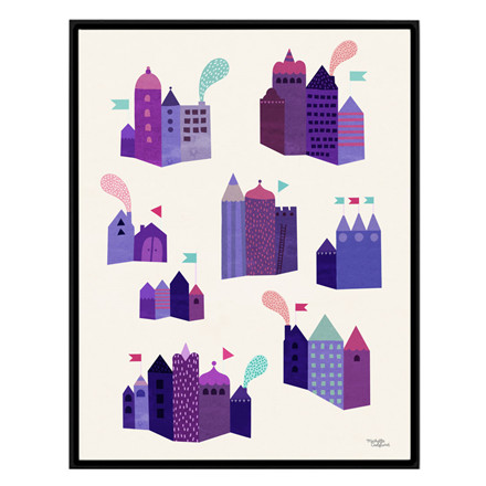 Michelle Carlslund Purple Houses