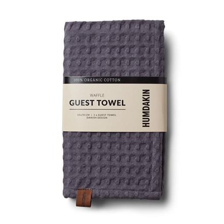 Humdakin Waffle Guest Towel Dark Ash