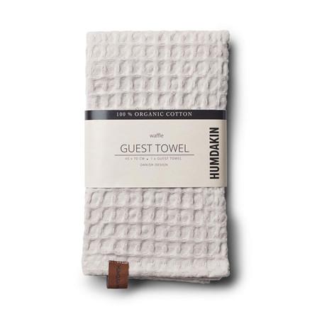 Humdakin Waffle Guest Towel Light Stone