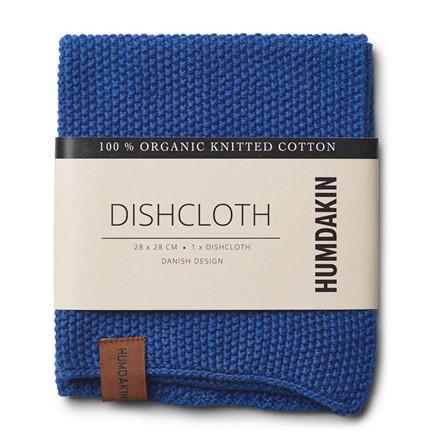 Humdakin Knitted Dishcloth Blue Cloud