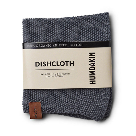 Humdakin Knitted Dishcloth Dark Ash