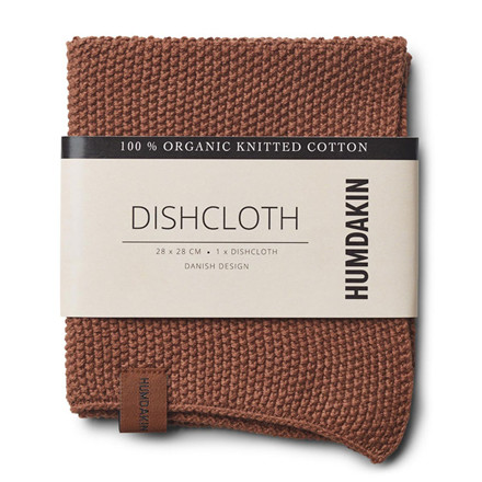 Humdakin Knitted Dishcloth Dark Brown