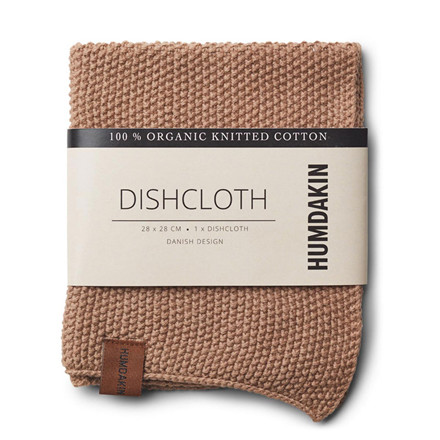 Humdakin Knitted Dishcloth Latte