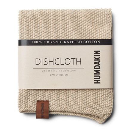 Humdakin Knitted Dishcloth Light Stone