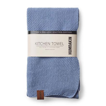 Humdakin Knitted Kitchen Tea Towel Light Blue