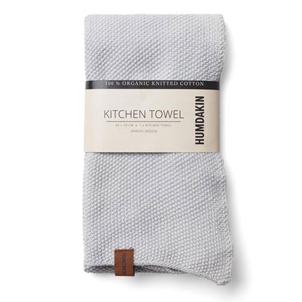 Humdakin Knitted Kitchen Tea Towel Purple Grey