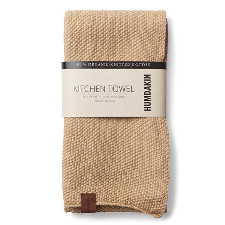 Humdakin Knitted Kitchen Tea Towel Sand