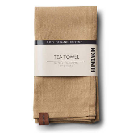 Humdakin Organic Tea Towel Wood