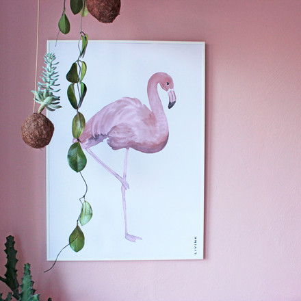 Livink Flamingo Plakat