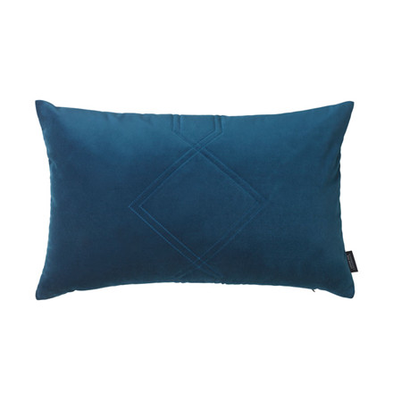 Louise Roe Diamond Quiltet Cushion Blue