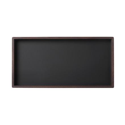 Louise Roe Smoked Oak Black Linoleum Tray Rektangulær