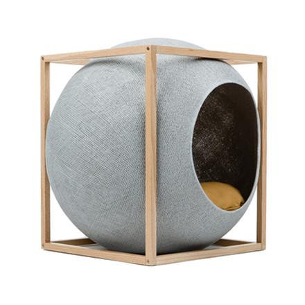 Meyou Paris The Cube Light Grey Wood Edition Kattekurv