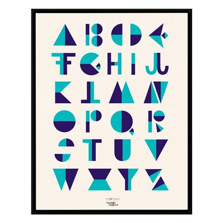 Michelle Carlslund Flip Alphabet Blå