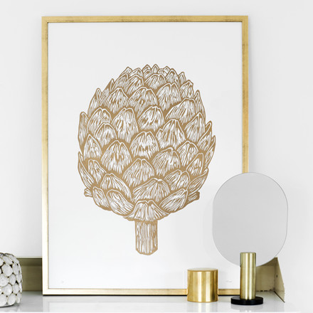 Monika Petersen Artichoke Gold Plakat 50x70