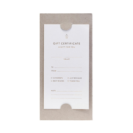 Monograph Gift Certificates Note Cards
