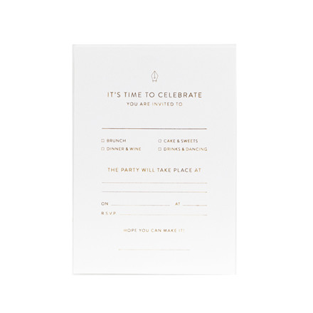Monograph Invitation Note Cards