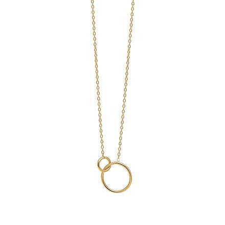 Enamel Copenhagen Double Circle Necklace Gold-Plated