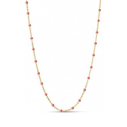 Enamel Copenhagen Lola Necklace Coral Gold-Plated
