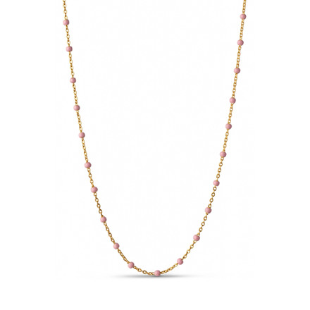 Enamel Copenhagen Lola Necklace Light Pink Gold-Plated