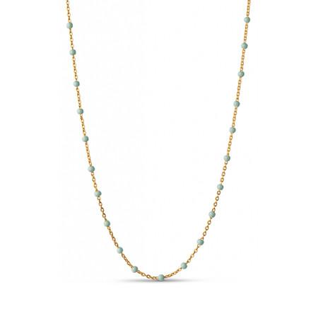 Enamel Copenhagen Lola Necklace Mint Gold-Plated