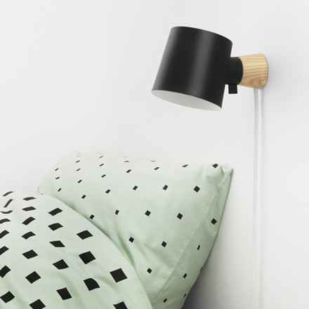 Normann Cph Rise Wall Lamp Black