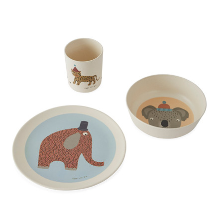 OYOY Hathi Bamboo Tableware Set