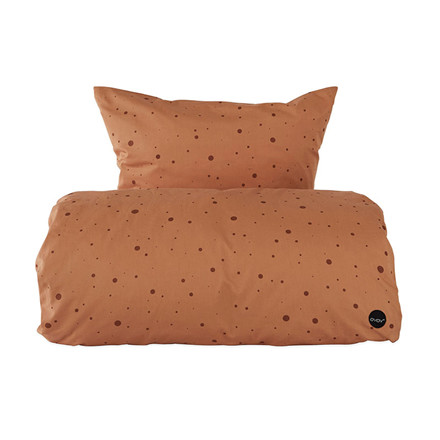 OYOY Dot Bedding Caramel Junior