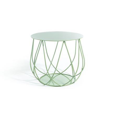 Skargaarden Resö Lounge Table Crossed Bars Light Green