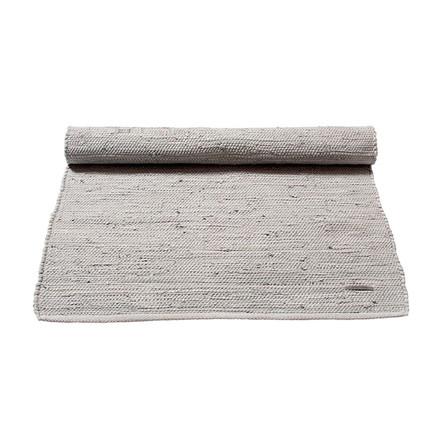 Rug Solid Light Grey Bomuldstæppe