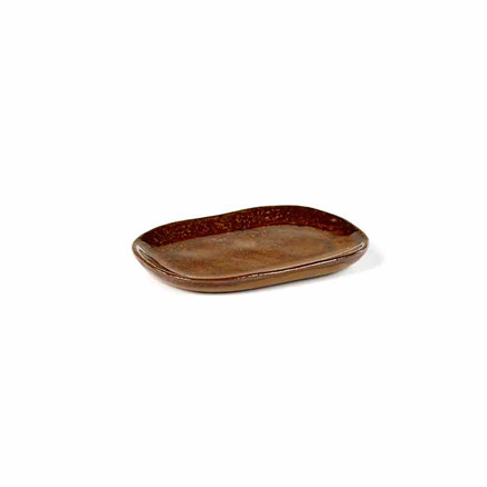 Serax Merci Rectangular Plate No. 4 Ocre/Brown