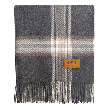 Skriver Collection Baby Alpaca Plaid Brown Grey