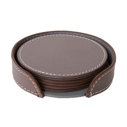 Ørskov & Co. Leather Coasters Round Elephant