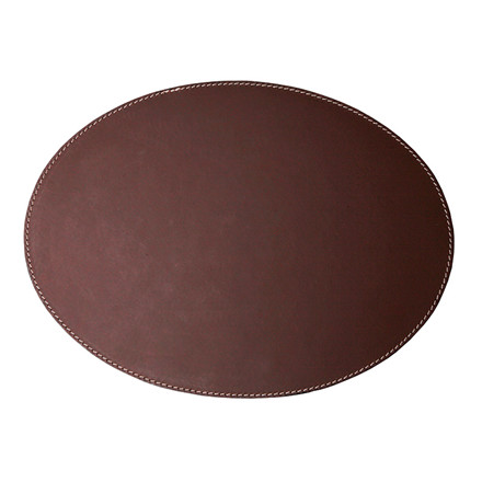Ørskov & Co. Leather Placemat Oval Brown