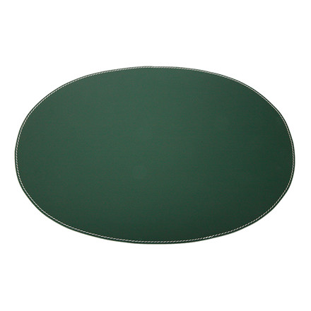 Ørskov & Co. Leather Placemat Oval Dark Green