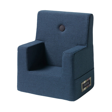 By KlipKlap Kids Chair Dark Blue W. Black