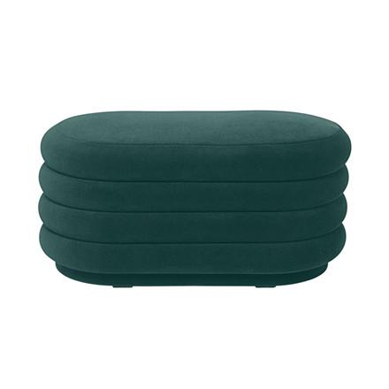 Ferm Living Pouf Oval Dark Green Medium