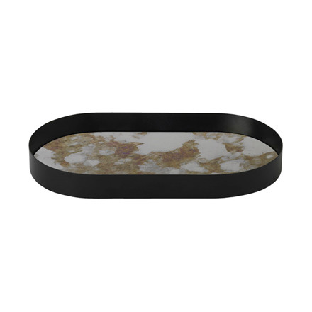 Ferm Living Coupled Tray Oval Mos Green Small