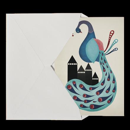 Michelle Carlslund Peacock Postkort