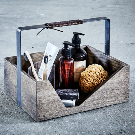 The Oak Men Carrie Box Black Oiled Oak