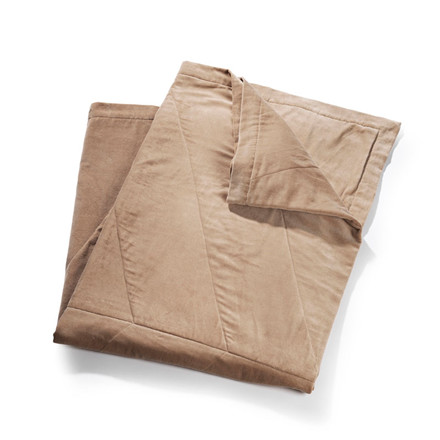 To BE Living Velvet Leaflet Bedspread Almond Brown