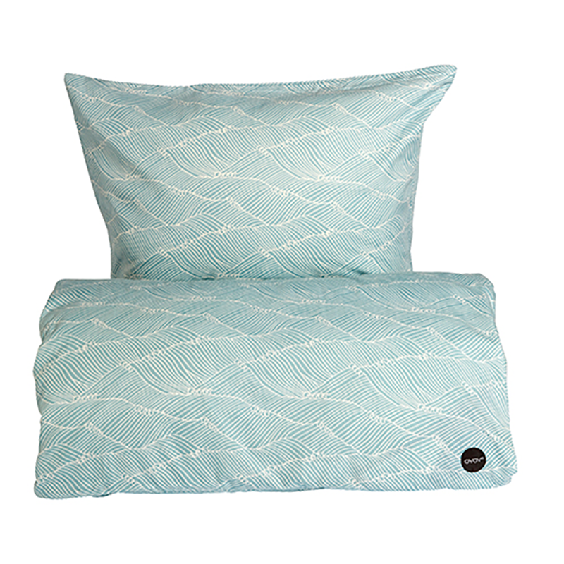 OYOY Poipoi Bedding Dusty Aqua
