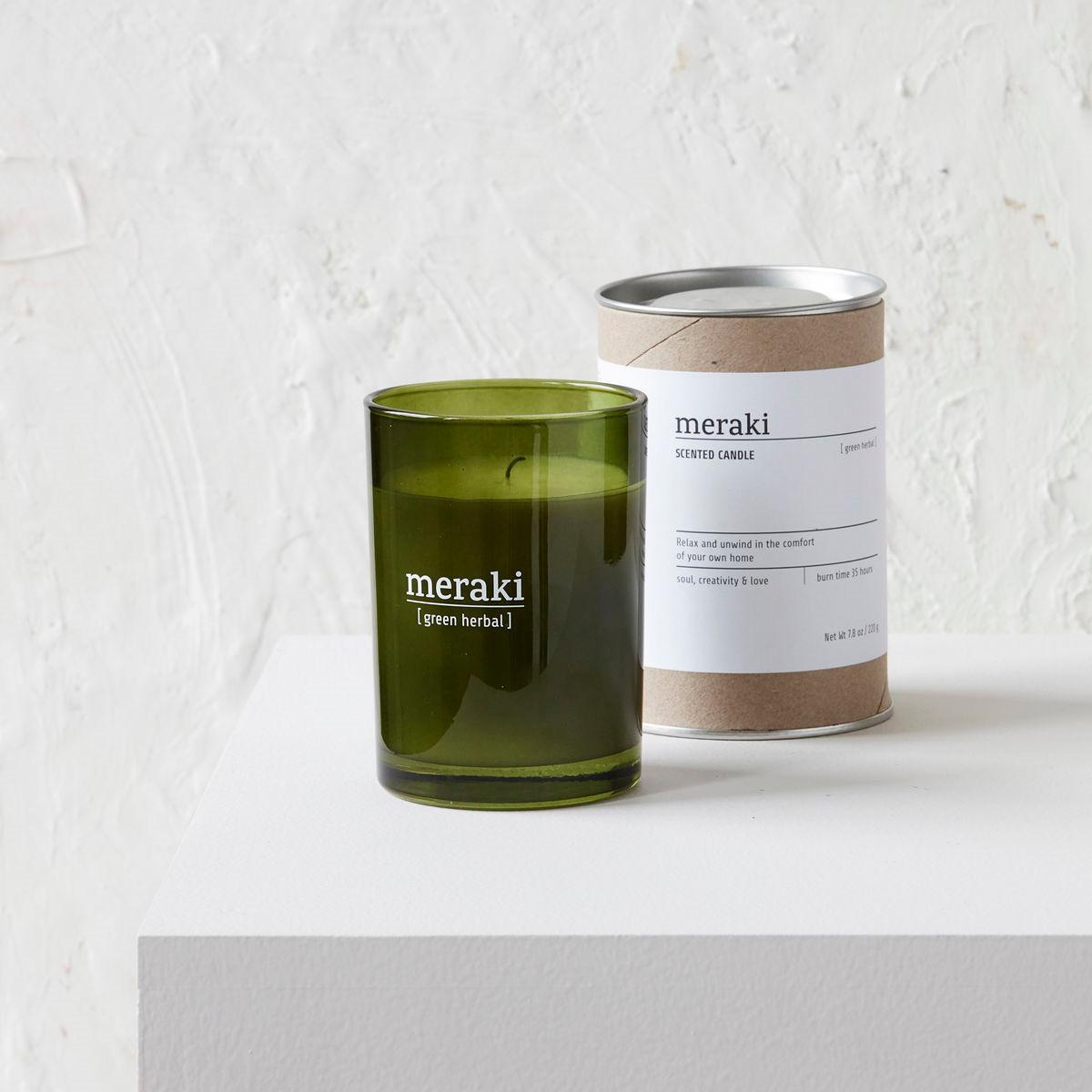 Meraki Scented Candle Green Herbal