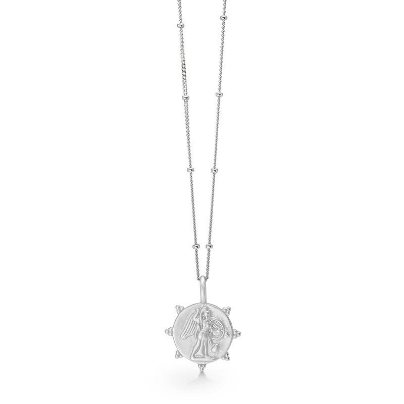 Enamel Copenhagen Angel Necklace Silver