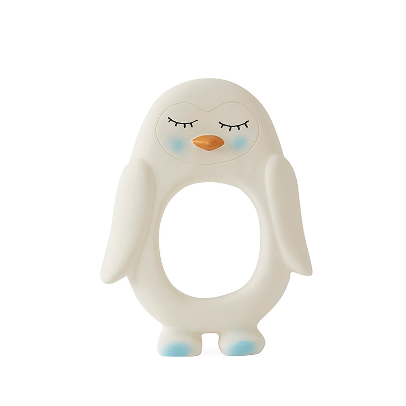 OYOY Penguin Baby Teether White