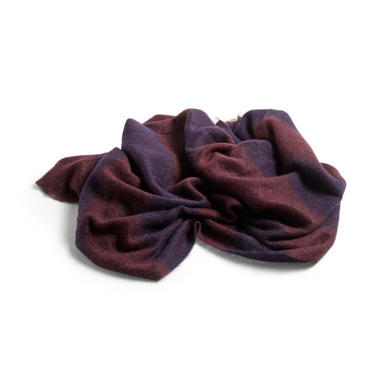 HAY Mohair Blanket Dark Blue