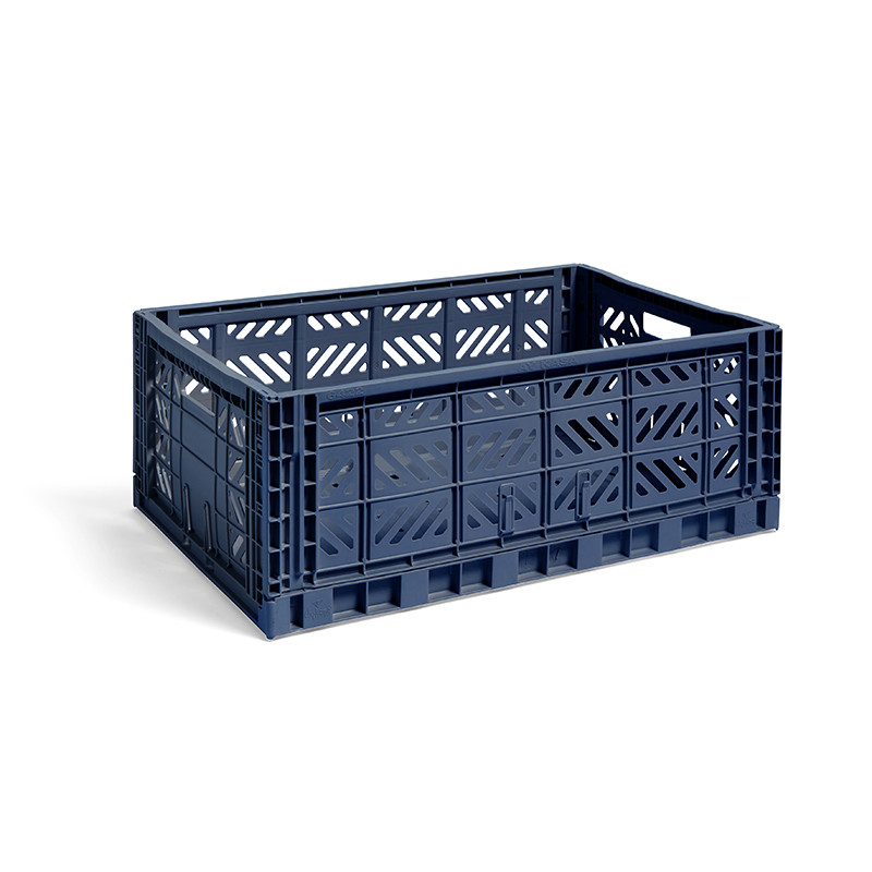 HAY Colour Crate L Navy
