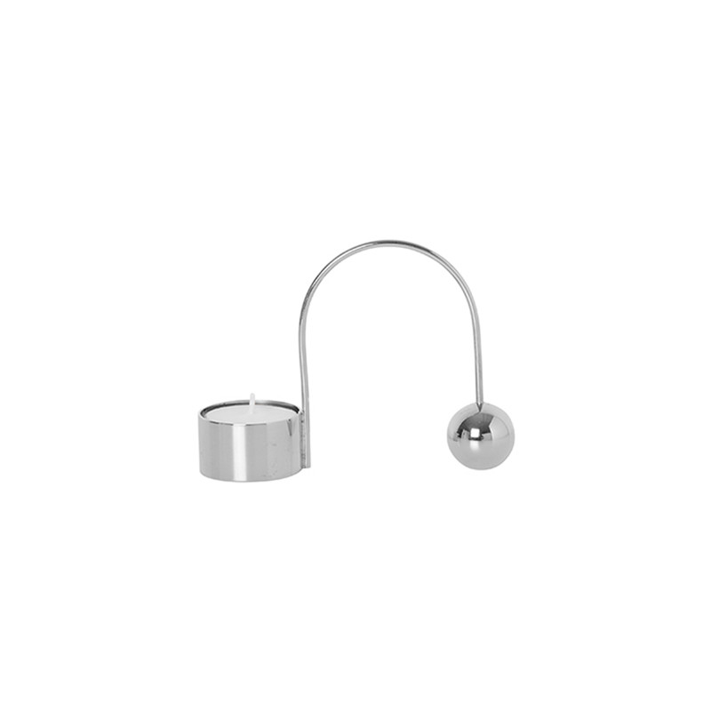 Ferm Living Balance Tealight Holder Chrome